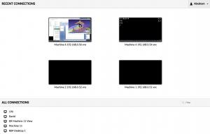 Desktops as icons vIew - JentüRemote Panel - Jentü Demo